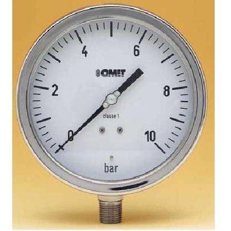 MANOVUOTOMETRO INOX+GLICEROL DIA 100 R SCALA -1/+9 BAR 1/2